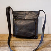 Soft leather bag M black House of Sajaco