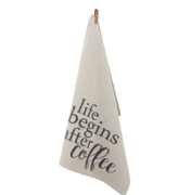 Life begins after coffee keittiöpyyhe