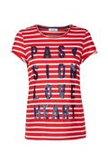 Mos Mosh Crave Stripe Tee Red